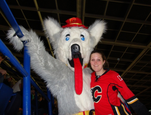 The Calgary Flames Mascot Whoa The Morning Skate